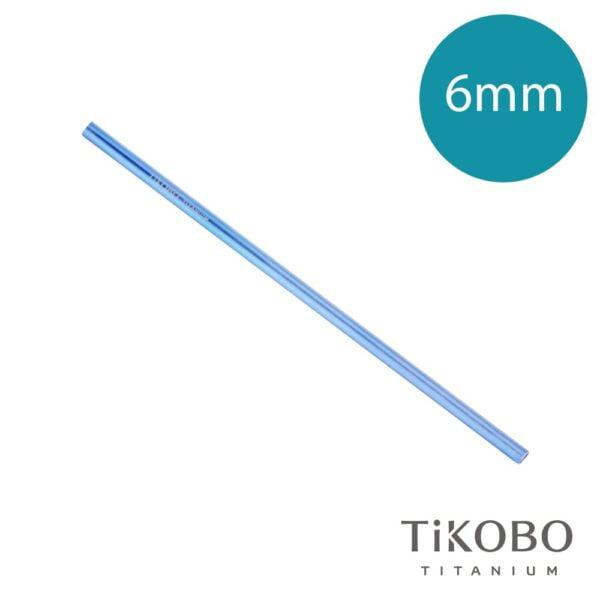 【TiKOBO 鈦工坊】純鈦吸管 - 皇室藍(6mm)