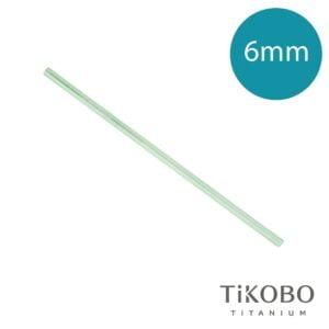 【TiKOBO 鈦工坊】純鈦吸管 - 青瓷綠(6mm)